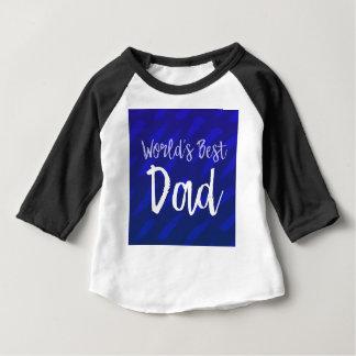 Camiseta Para Bebê O melhor pai do mundo