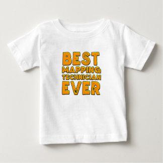 Camiseta Para Bebê O melhor técnico de traço nunca