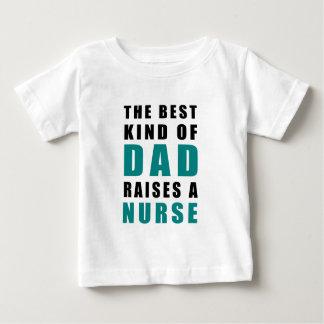 Camiseta Para Bebê o melhor tipo do pai aumenta uma enfermeira