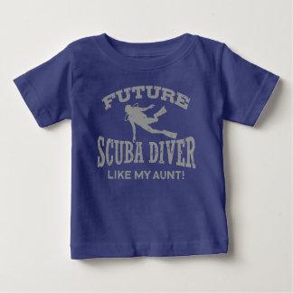 Camiseta Para Bebê O mergulhador de mergulhador futuro gosta de minha