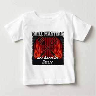 Camiseta Para Bebê O mestrado da grade é nascido em julho