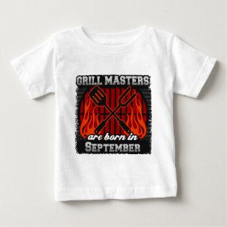 Camiseta Para Bebê O mestrado da grade é nascido em setembro
