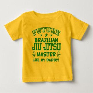 Camiseta Para Bebê O mestre futuro de Jiu Jitsu do brasileiro gosta