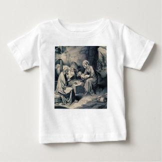 Camiseta Para Bebê O nascimento do cristo
