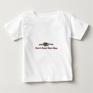 Camiseta Para Bebê O nó de Dave aqui equipa - Multi-Produtos