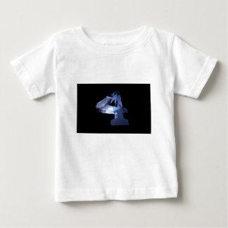 Camiseta Para Bebê O número quatro é meu número favorito e eu