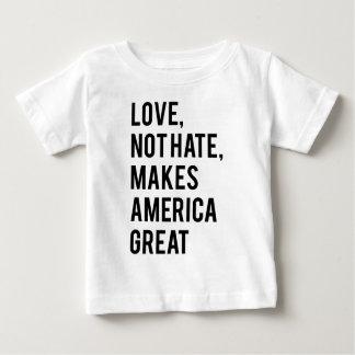 Camiseta Para Bebê O ódio do amor não faz o excelente de América