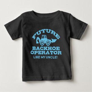 Camiseta Para Bebê O operador futuro do Backhoe gosta de meu tio