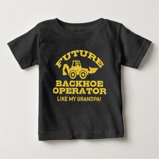 Camiseta Para Bebê O operador futuro do Backhoe gosta de meu vovô
