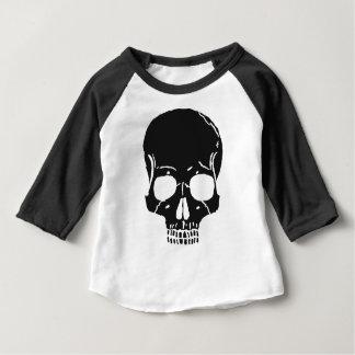 Camiseta Para Bebê O osso do crânio desossa assustador assustador