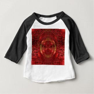 Camiseta Para Bebê O ouro brilhante e o teste padrão 3D alaranjado