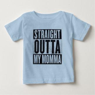 Camiseta Para Bebê O Outta reto do menino meu T engraçado do miúdo de