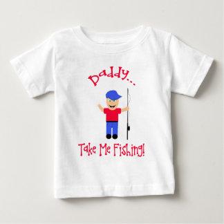 Camiseta Para Bebê O pai… toma-me a pesca! Menino