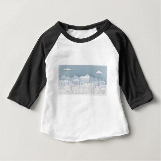 Camiseta Para Bebê O papel abriga a fileira