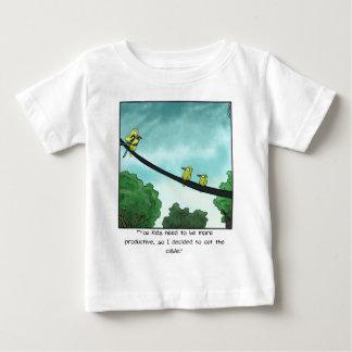 Camiseta Para Bebê O pássaro cortou o cabo