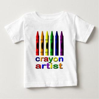 Camiseta Para Bebê O pastel desenha o t-shirt da criança do artista