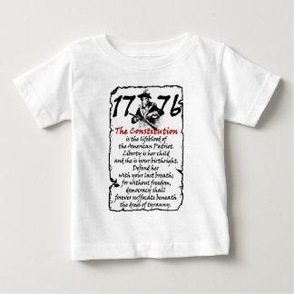 Camiseta Para Bebê O patriota americano
