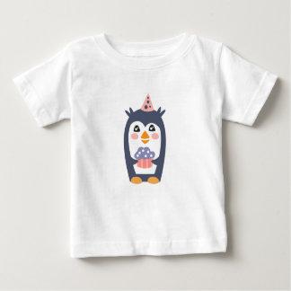 Camiseta Para Bebê O pinguim com partido atribui Funky estilizado