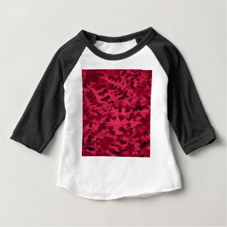 Camiseta Para Bebê O pop art abstrato da folha cora vermelho