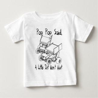 Camiseta Para Bebê O pop do pop disse que pouca sujeira não ferirá