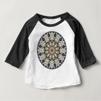 Camiseta Para Bebê O primavera floresce 04,2, Flor-Mandala