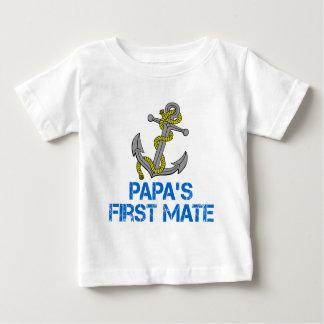Camiseta Para Bebê O primeiro companheiro da papá