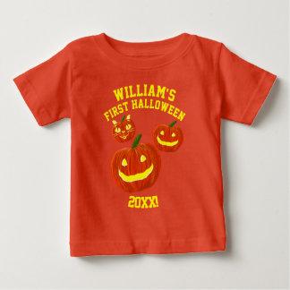 Camiseta Para Bebê O primeiro Dia das Bruxas personalizado