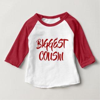Camiseta Para Bebê O primo O MAIS GRANDE