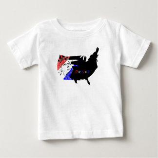 Camiseta Para Bebê O quarto de julho caçoa o t-shirt