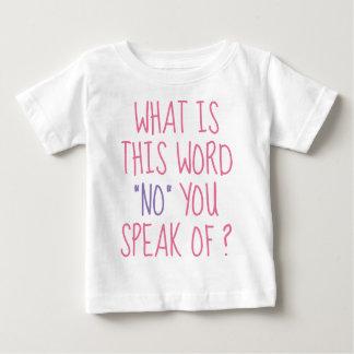 Camiseta Para Bebê O que é esta palavra nenhuma