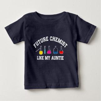 Camiseta Para Bebê O químico futuro gosta de meu Auntie