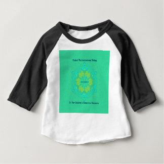 Camiseta Para Bebê O #Resist protege a mandala do Anti-Trunfo do