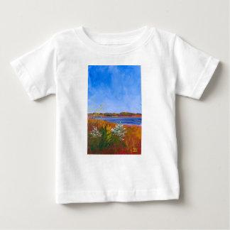 Camiseta Para Bebê O Rio Delaware dourado