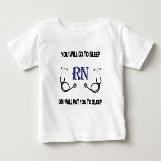 Camiseta Para Bebê O RN vai dormir