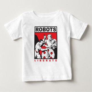 Camiseta Para Bebê O robô ajusta-o livre