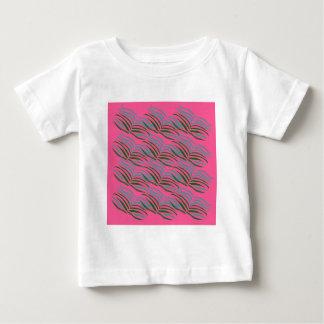 Camiseta Para Bebê O rosa dos elementos do design sae exótico