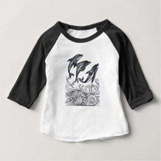 Camiseta Para Bebê O salto dos golfinhos