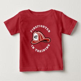 Camiseta Para Bebê O sapador-bombeiro do FD no treinamento caçoa o