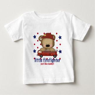 Camiseta Para Bebê O sapador-bombeiro pequeno apenas gosta do pai