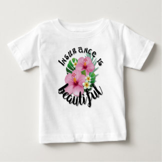 Camiseta Para Bebê O seguro é bonito