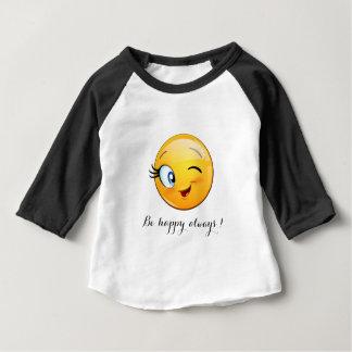 Camiseta Para Bebê O smiley pisc adorável Emoji Cara-Está feliz