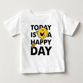 Camiseta Para Bebê O Sr. Feliz   é hoje um dia feliz