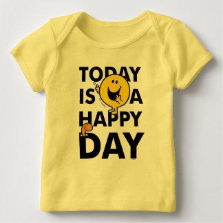 Camiseta Para Bebê O Sr. Feliz | é hoje um dia feliz