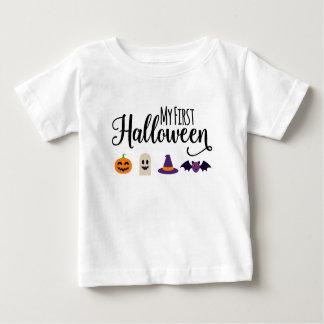 Camiseta Para Bebê O T do primeiro miúdo do Dia das Bruxas