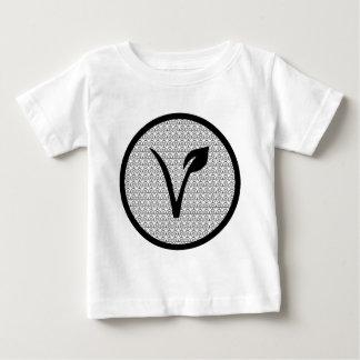 Camiseta Para Bebê O T do Vegan do diabo