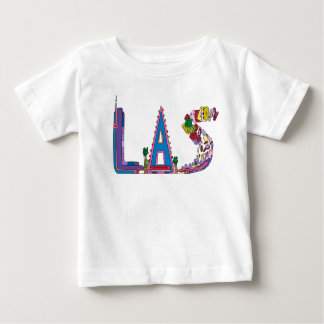Camiseta Para Bebê O T | LAS VEGAS do bebê, nanovolt (LAS)