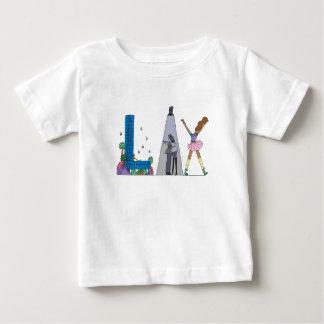 Camiseta Para Bebê O T | LOS ANGELES do bebê, CA (RELAXADO)