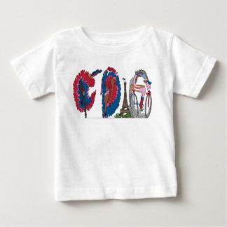 Camiseta Para Bebê O T   PARIS do bebê, franco (CDG)