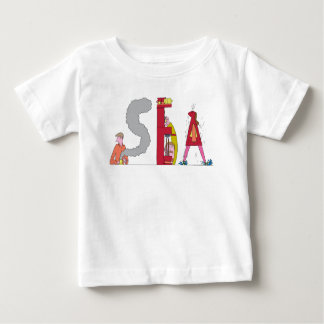 Camiseta Para Bebê O T | SEATTLE do bebê, WA (MAR)