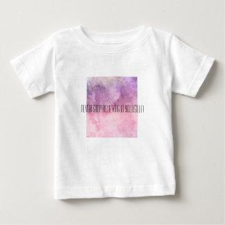 Camiseta Para Bebê O t-shirt com citações de inspiração ACREDITA